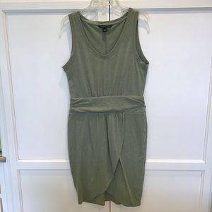 Banana Republic green faux wrap dress NWOT